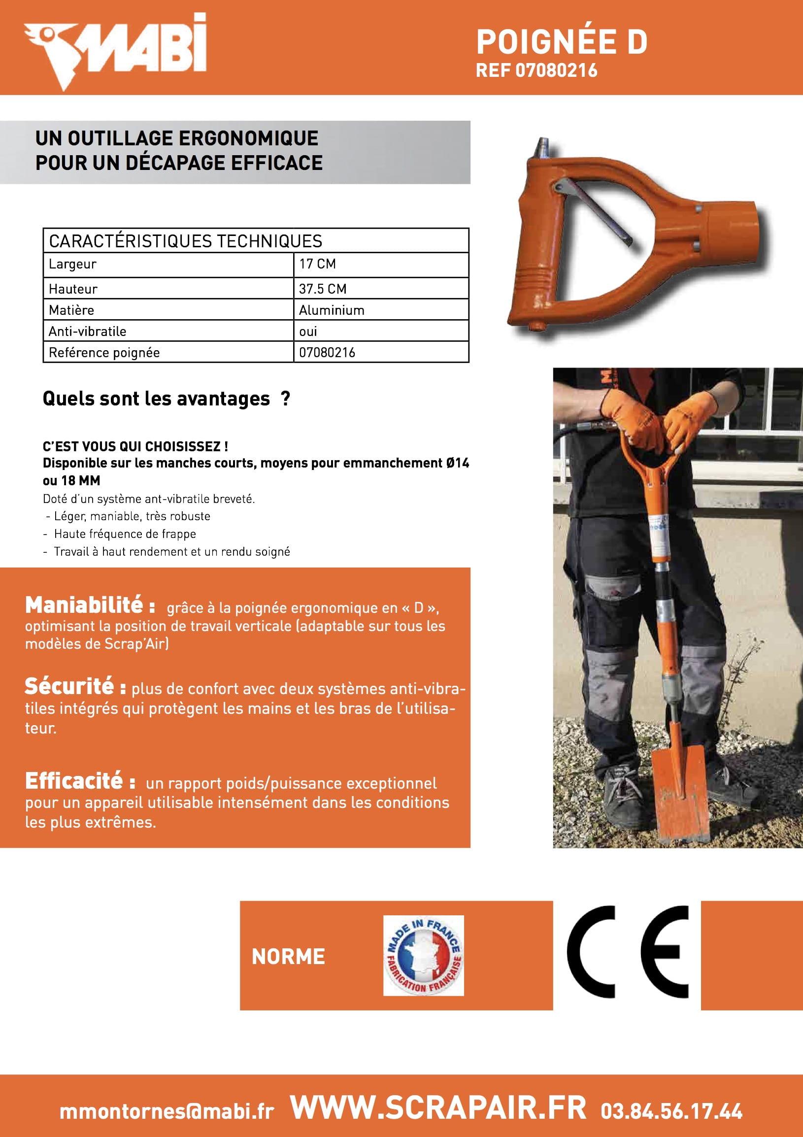 Fiche technique du Scrap'Air poignée D (lien vers pdf)