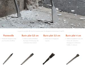 accessoires outils décapeurs
